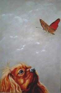 18 Chien et papillon