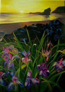 22 Iris bleues