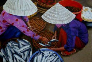 6 Marchandes de poissons Viet