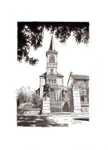Eglise ombragée de Quetigny - © B. Vintousky