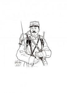 Fantassin du 27ème R. d'Infanterie - © B. Vintousky