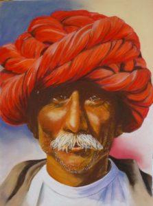 Turban rouge c