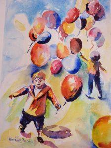 ballons aquarelle
