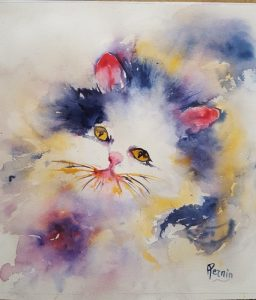 chaton - aquarelle