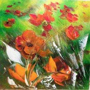 fleurs des champs acrylique