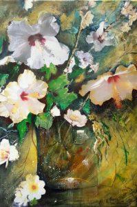 hibiscus - acrylique