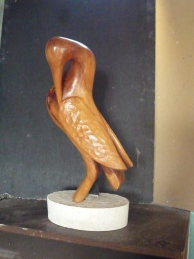 (080) Héron, prunier, 42 cm